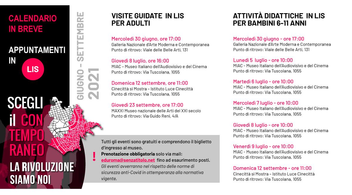Calendario in breve lingua LIS