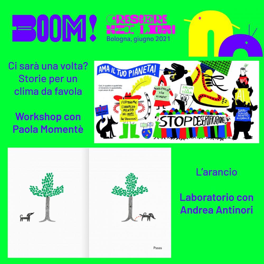 BOOM! Crescere nei libri: laboratori, incontri e spettacoli all'aperto a Bologna